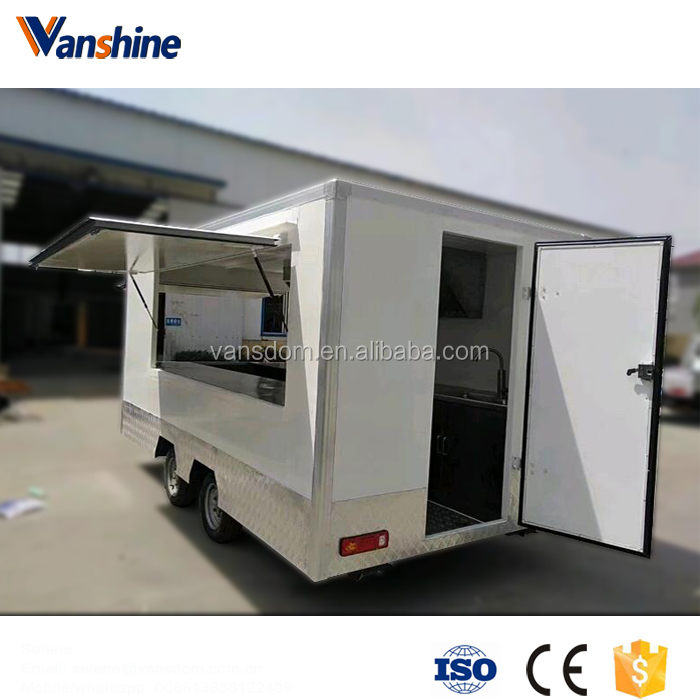 Factory direct produced competitive food carts and vans/used food tailers for sale with wheels