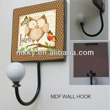 Adorable owl wall hook & High-quality Decorative wall art hook