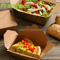 Disposable custom printed kraft lunch food paper box for food