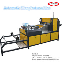 Full-automatic air filter blade pleating machine