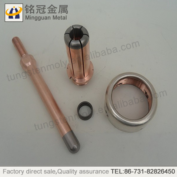 Changsha Mingguan edm electrode tube copper tungsten alloy contact