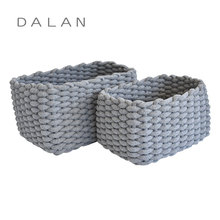 Hot selling High quanlity cotton rope kids storage baskets