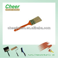 long hair paint brush and angled brush with handle plastic/handle wood