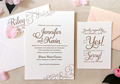 Luxury Script Letterpress Wedding Invitations