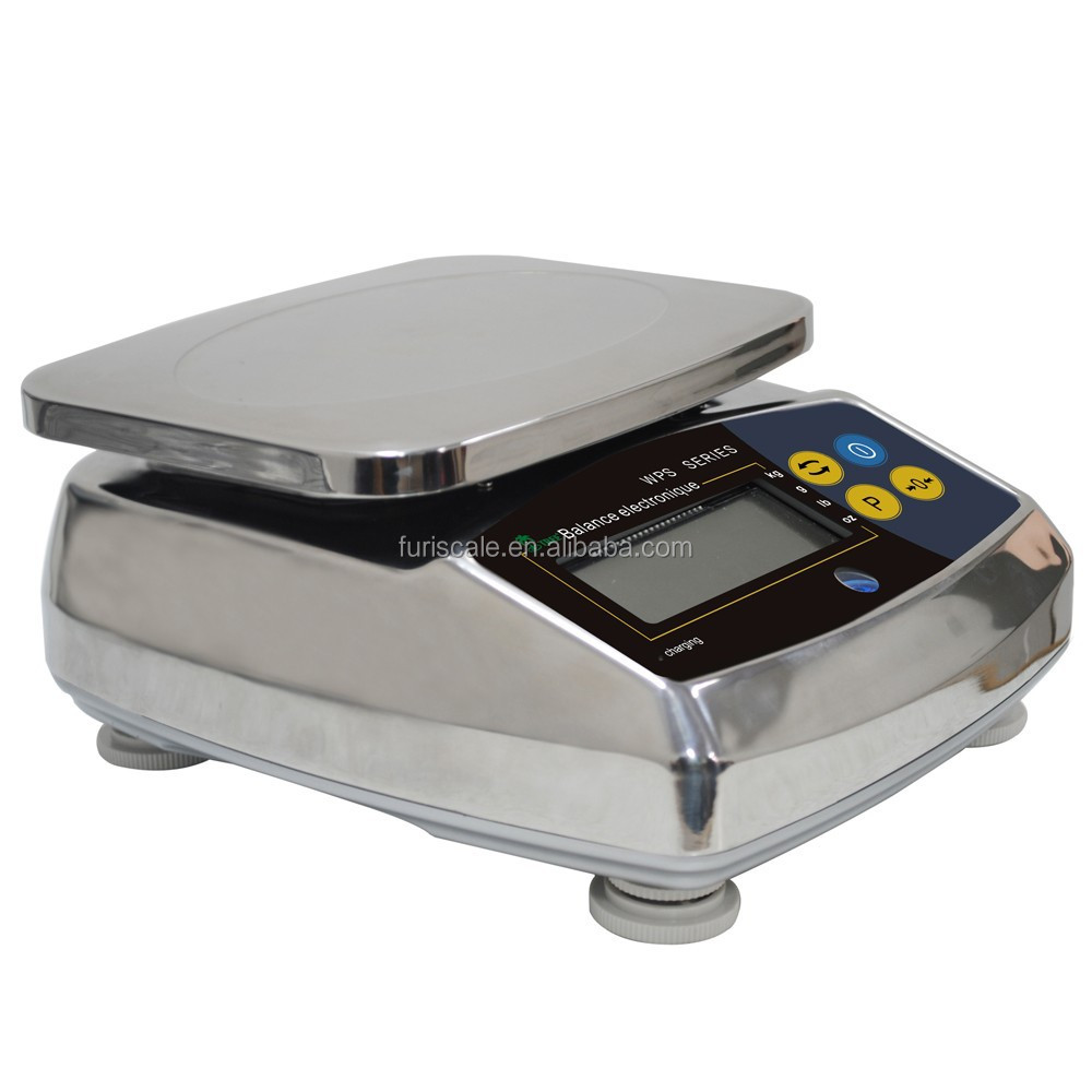 Furi WPS digital stainless steel water-resistant kitchen weighing scale with 304 stainless steel housing IP6.5
