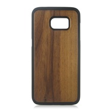 TPU PC wooden phone cover, wooden cell phone case for Samsung S7 Edge