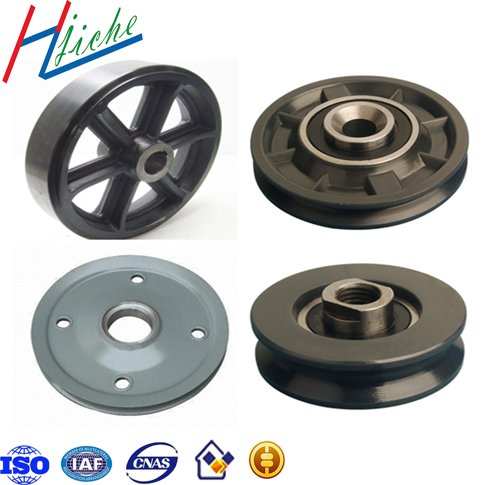 Custom casting metal parts wire rope chain pulley wheel