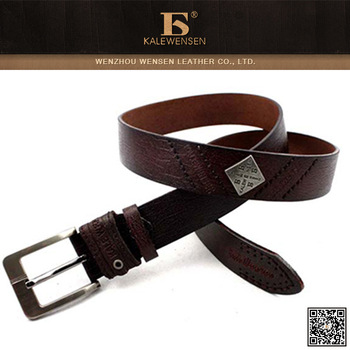 Promotional Leather leather automatic sliding buckle belts for men