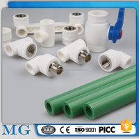 wholesale green and white ppr pipe fitting cold ppr pipes 90mm ppr water pipe