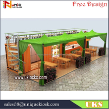 Hydraulic system shipping container coffee shop | prefab house container coffee shop | container cafe shop design for sale