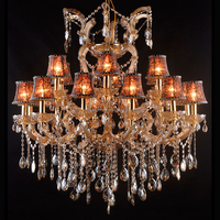 Modern LED Large Chandelier Contemporary Crystal Pendant Lamp Antique Light Wedding Cristal Chandeliers Lighting CZ6133/18