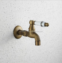 Wall Mount Classic Vintage Brass bronze Water wash Tap basin faucet mixer