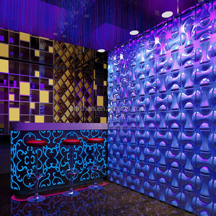 Eco Friendly Wall Decoration 3D Wall Panel And 3D Wall Covering