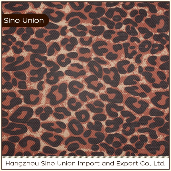 Lifelike printing polyester material 600D PU coating oxford snakeskin upholstery fabric