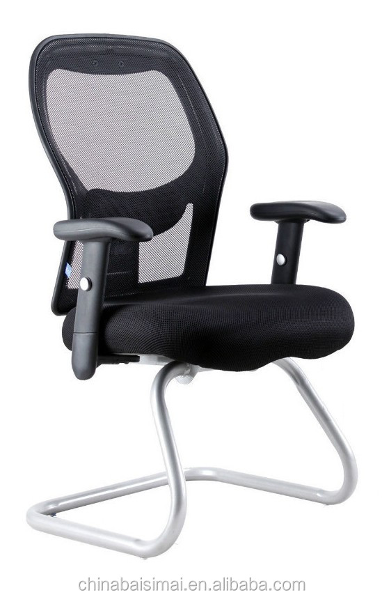 High quality middle back office meeting mesh chairs black color