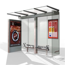 Roadside advertising prefabricated solar modern bus station shelter design