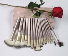 hot model professional high quality synthetic 18pcs cheap cosmetic makeup brush set/kits