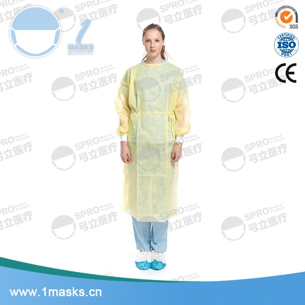 2017 High protective sterilized hospital disposable isolation gown