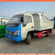 Foton 6 wheels hydraulic cylinder japan tipper 4m3 6m3 capacity for sale