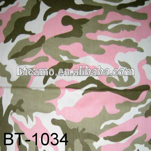 Military Canvas Pink Camouflage Fabric