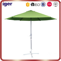 2016 steel frame 180g polyester striped promotional silk-screen advertising beach sun fancy unique design brand name umbrella
