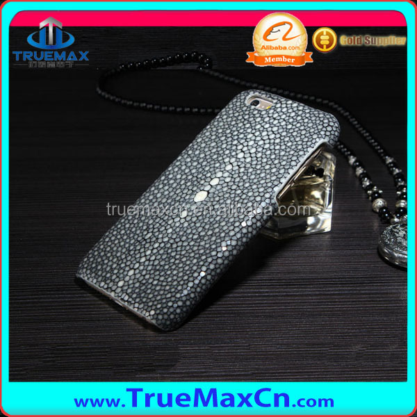 High Quality for iPhone 6 leather case, for iPhone 6/Plus Fish Skin Case