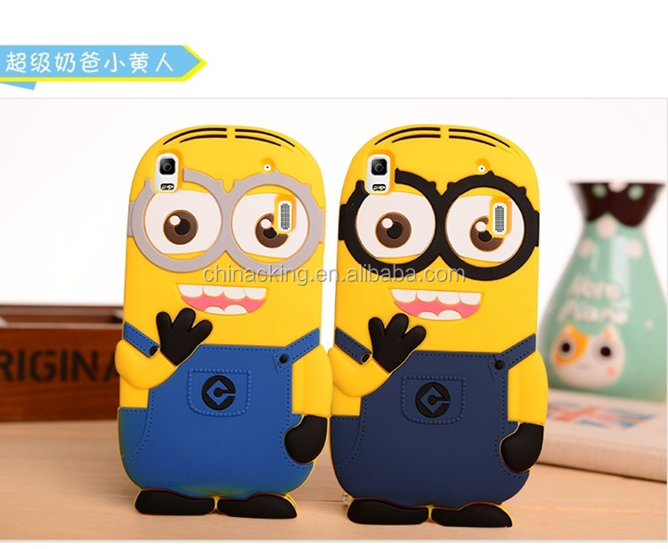 Cute 3D Despicable Me Minions Pattern Soft Silicon Cartoon Case for Lenovo K3 Note Back Cover
