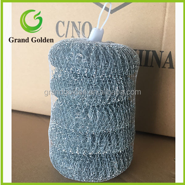 5PCS Yiwu Galvanized Steel Wire Mesh Scourer