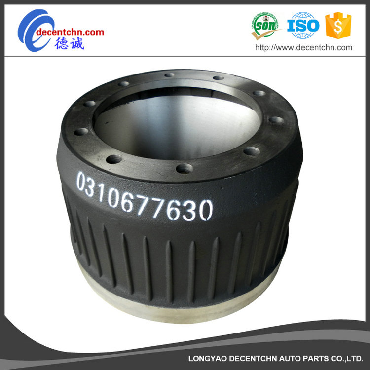 Best quality different color semi-trailer brake drum / truck brake drum