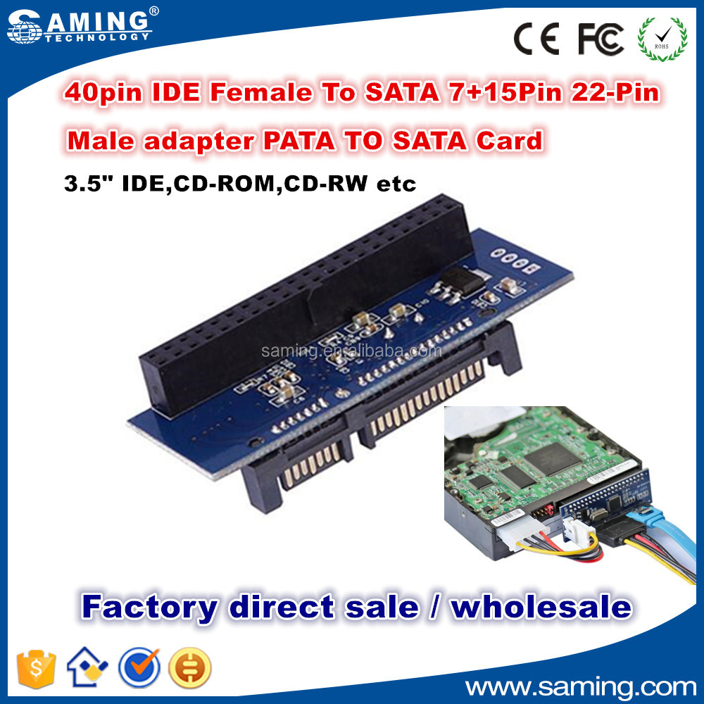 "7+15p 22pin SATA male to IDE PATA 40Pin Female JM20330 adapter SATA-IDE card for 3.5"" hdd"