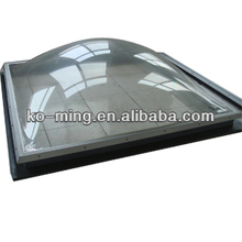 pyramind and round shape skylight dome