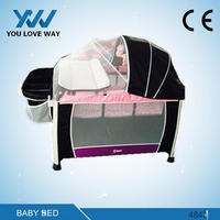 Alibaba aluminum baby playpen travel cot play yard Manufacture