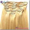 Top Grade Virgin Hair Full Head Clip In Hair Extensions Free Sample