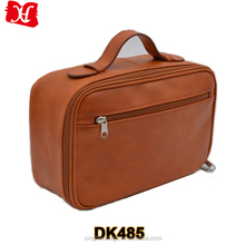 PU leather men toiletry bag for travel