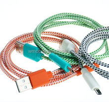 Hot selling nylon braided injection 4 cores price high voltage usb power cable for mobile phone/tablet charging and sync