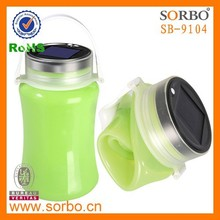 Popular Solar Silicone Led Camping Light with Storage