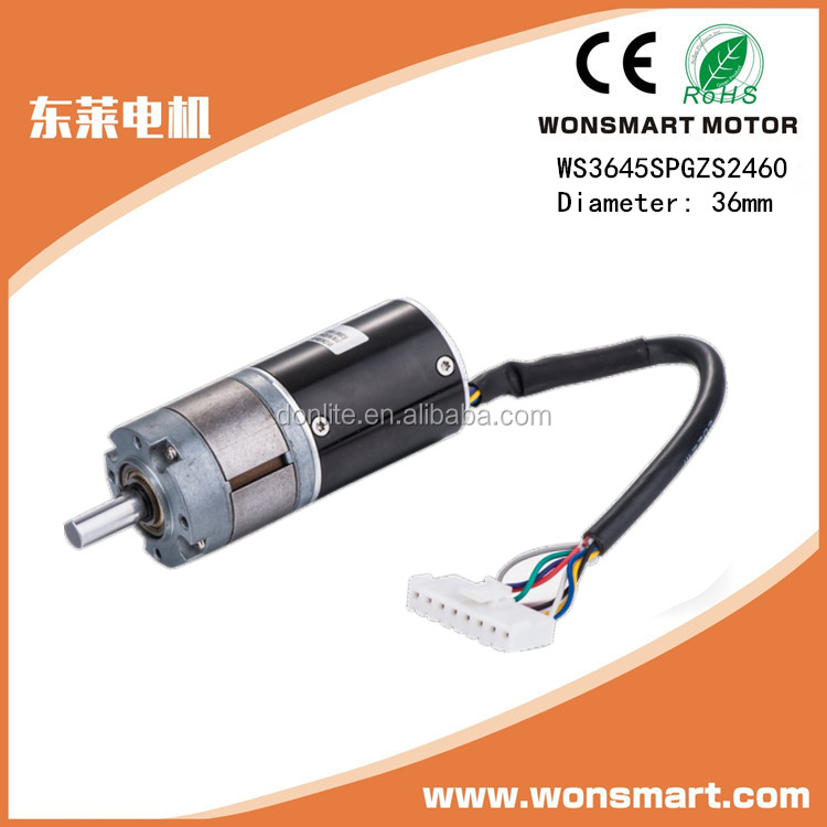 36mm 27 gear ratio dc planetary gear motor 24v
