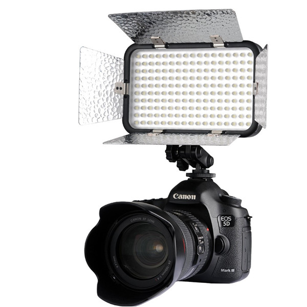 Godox LED170II Hot Shoe Mount Continuous Portable Video LED Panel Lights for DSLR DV Camera