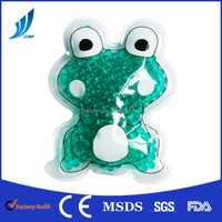 Gel comfortable frog shaped hot cold pack for kids reducing fever