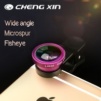 4 in 1 lens multifunction cpl wide angle macro fish smartphone camera lens for mobile