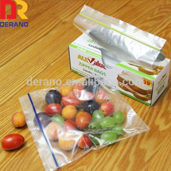 Customized printed slider bags with zipper