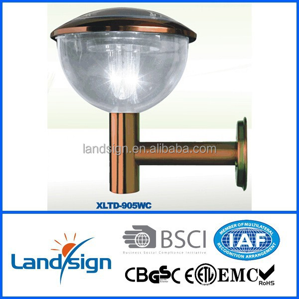 Alibaba 2015 outdoor wall lamps series XLTD-905W stainless steel 3*super bright white led outside solar lighting