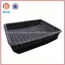 Wholesale Stylish plastic rattan storage basket for bread