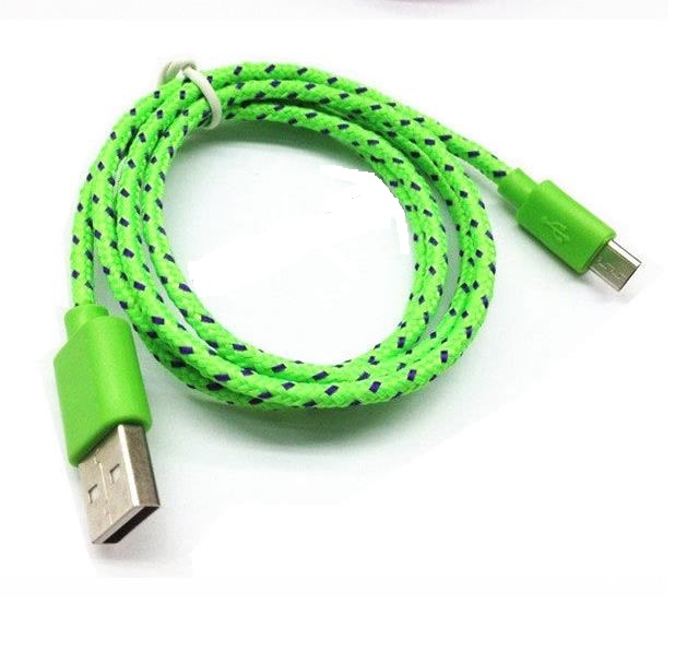 Braided 5pin Micro USB Cable for Samsung Micro USB y Cable Fabric Braided Cable