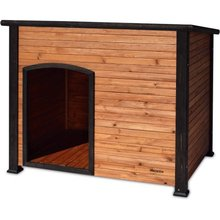 Factory wholesale good quality wooden dog Kennel with flat roof
