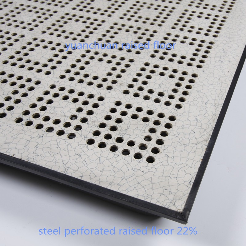 ventilative access floor with 22% air flow ratio 600*600 mm