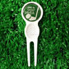 2016 innovative tool Brass golf divot tool golf pitch repair 4 magnets divot tool