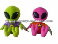 High quality ! 2012 new cute child stuffed plush alien toy with T-shirt