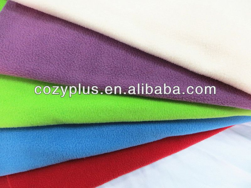 2013 china shaoxing top 10 globalsources 100% Polyester Fabric Polar Fleece microsanded