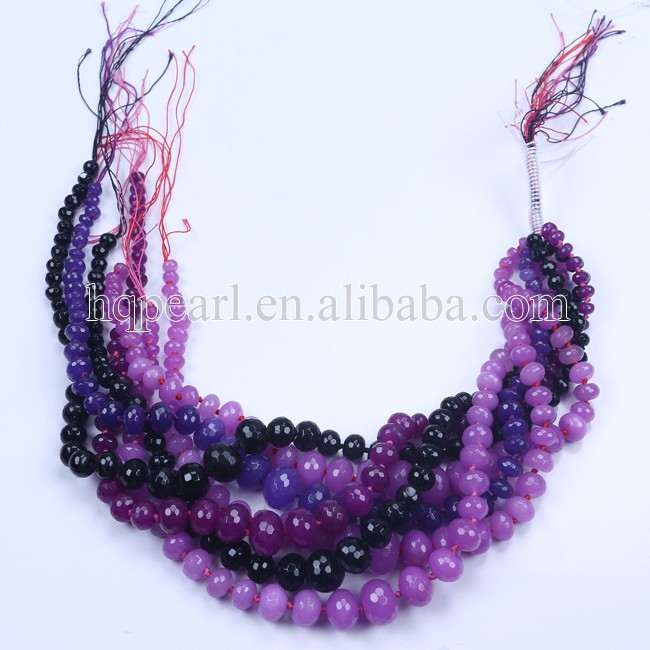 Fashion graduated strand loose beads big to small stone beads natural stone beads